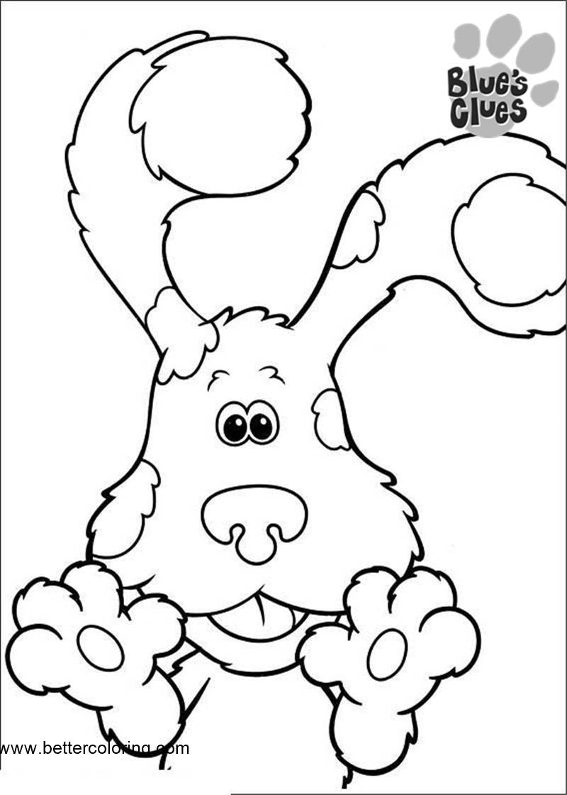 Free Blue's Clues Coloring Pages Cute Dog printable