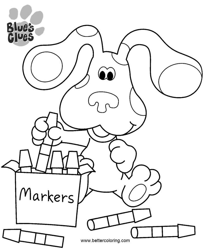 Free Blue's Clues Coloring Pages Eeay Drawing printable