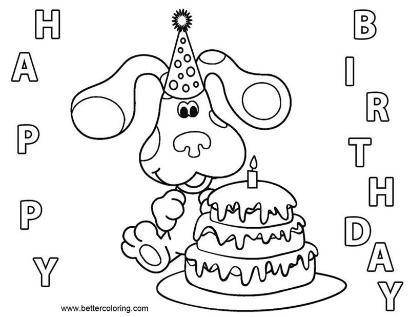 Free Blue's Clues Coloring Pages Happy Birthday printable