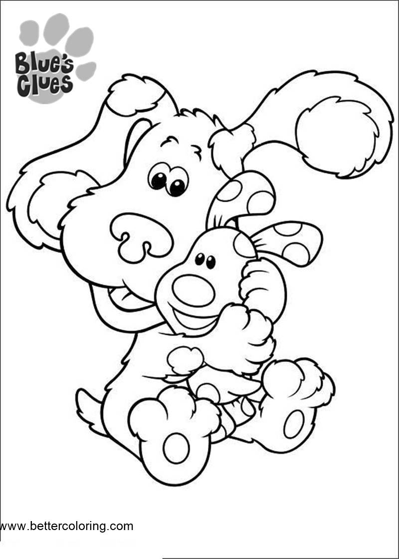 Blue\'s Clues Coloring Pages Hug - Free Printable Coloring Pages