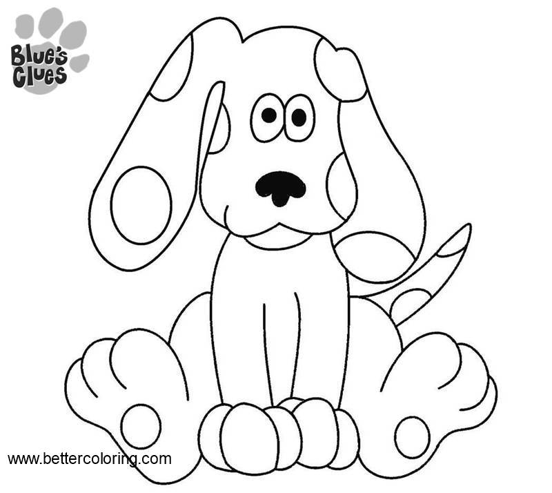 Free Blue's Clues Coloring Pages Line Drawing printable