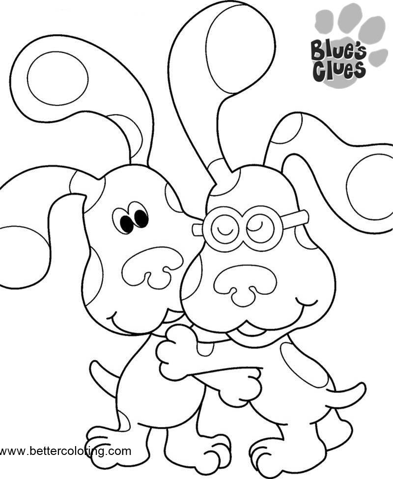 Blue's Clues Coloring Pages Linear - Free Printable ...