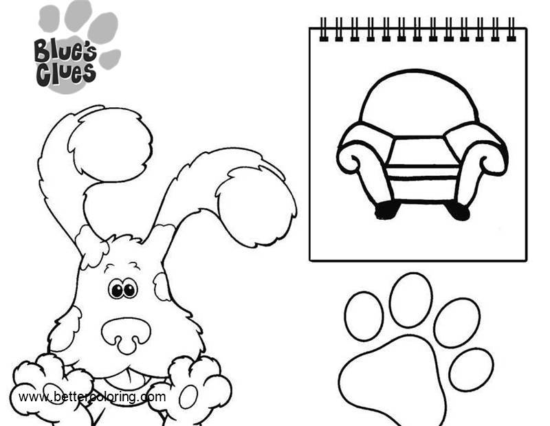 Free Blue's Clues Coloring Pages Note Book printable