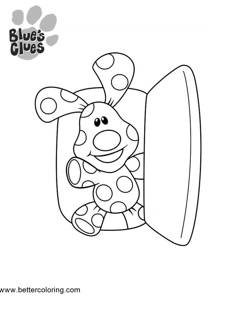 Free Blue's Clues Coloring Pages Open the Door printable