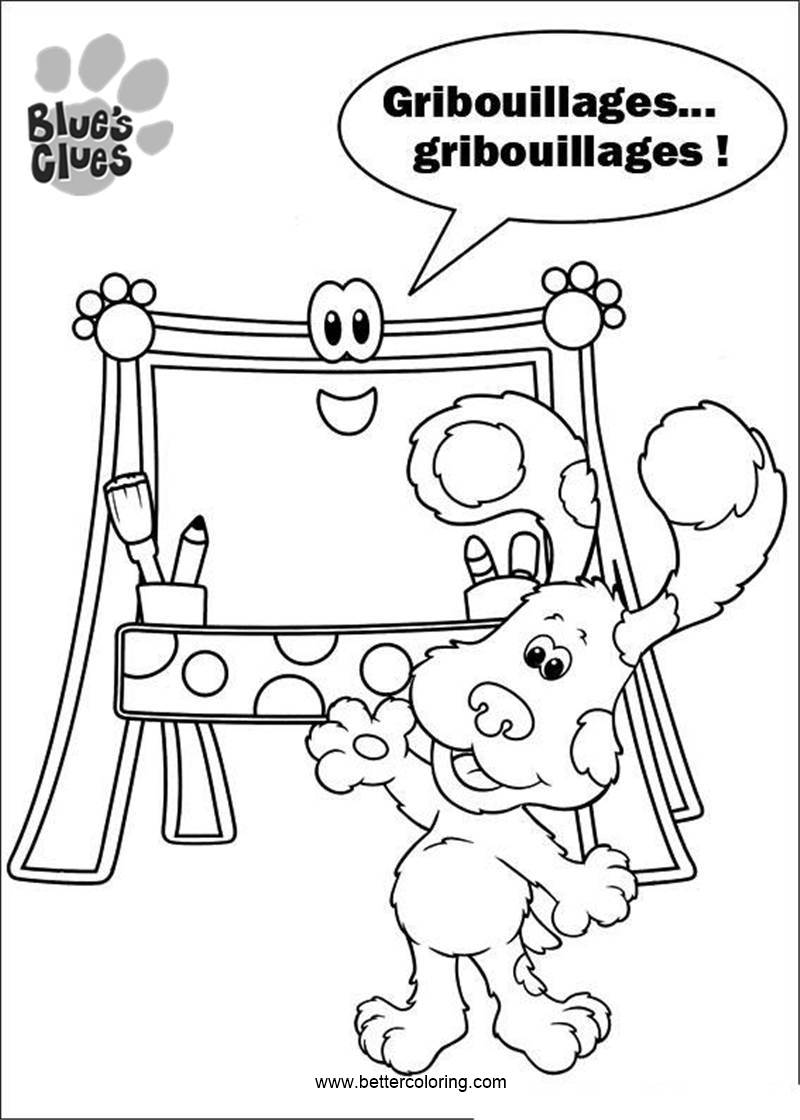 Free Blue's Clues Coloring Pages Painting printable
