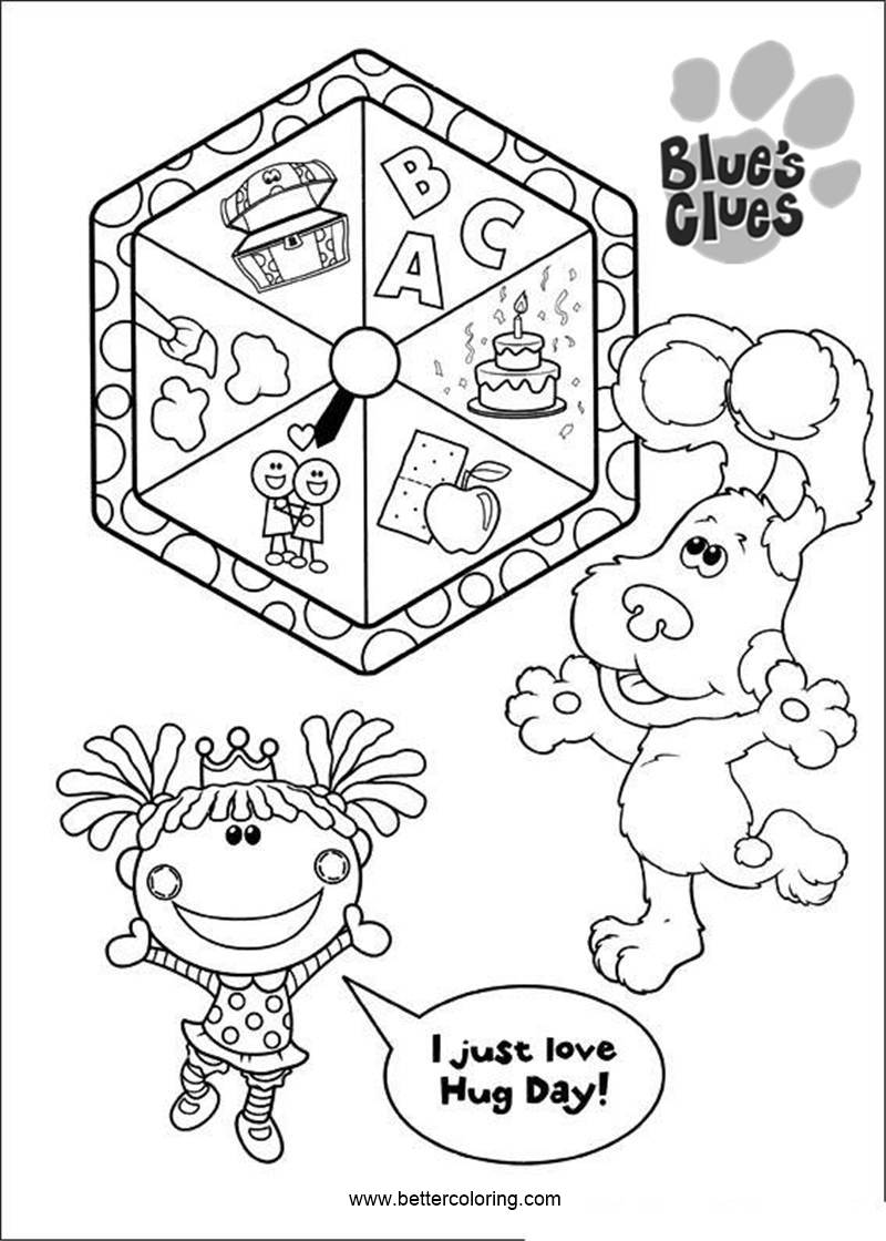 blue s clues coloring pages play games free printable coloring pages