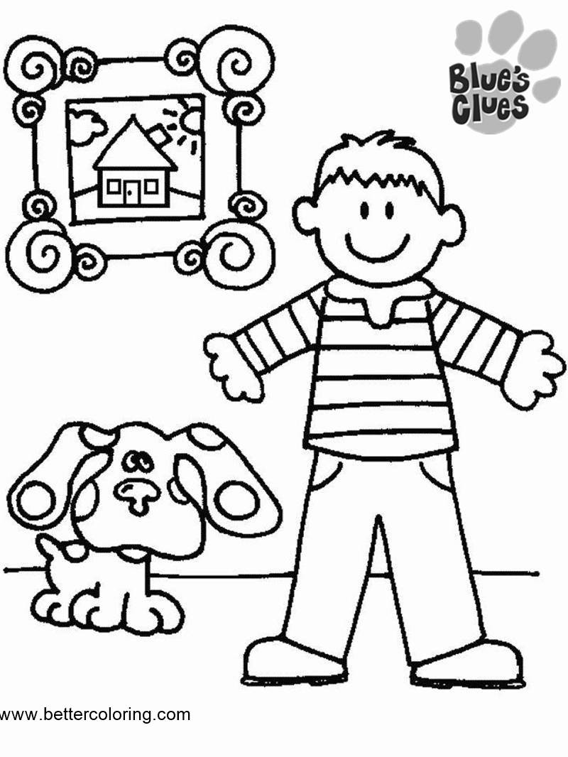 Blue\'s Clues Coloring Pages Steve and Blue - Free Printable Coloring ...