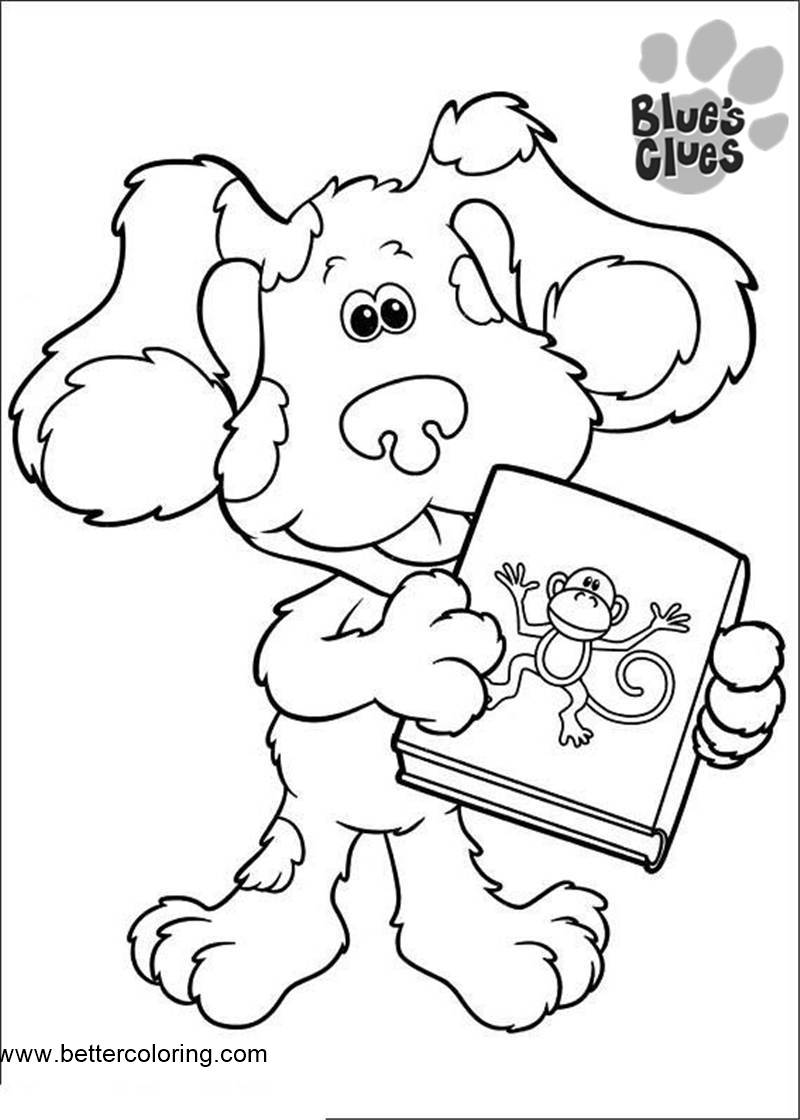 blues clues online coloring pages - photo#41
