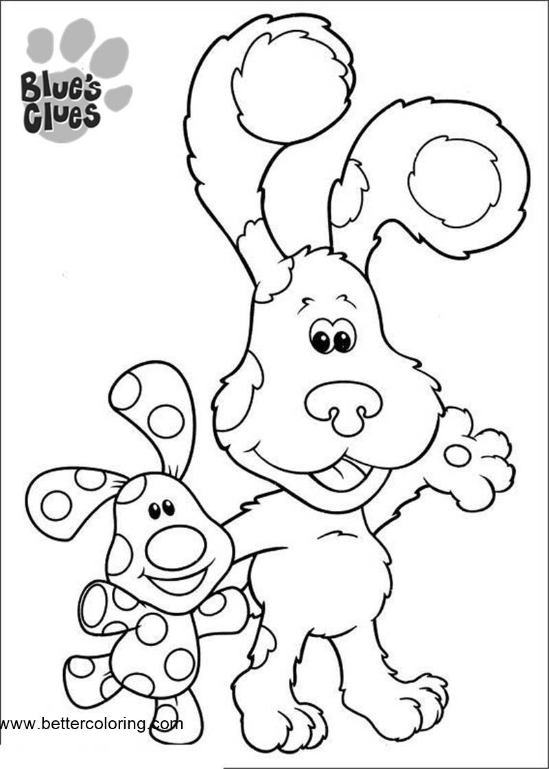 free blues clue coloring pages - photo#16
