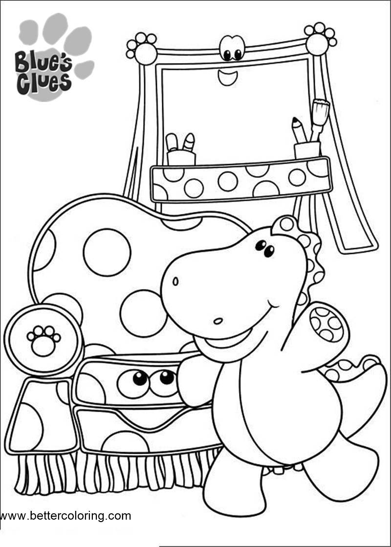 Free Blue's Clues Dinosaur Coloring Pages printable