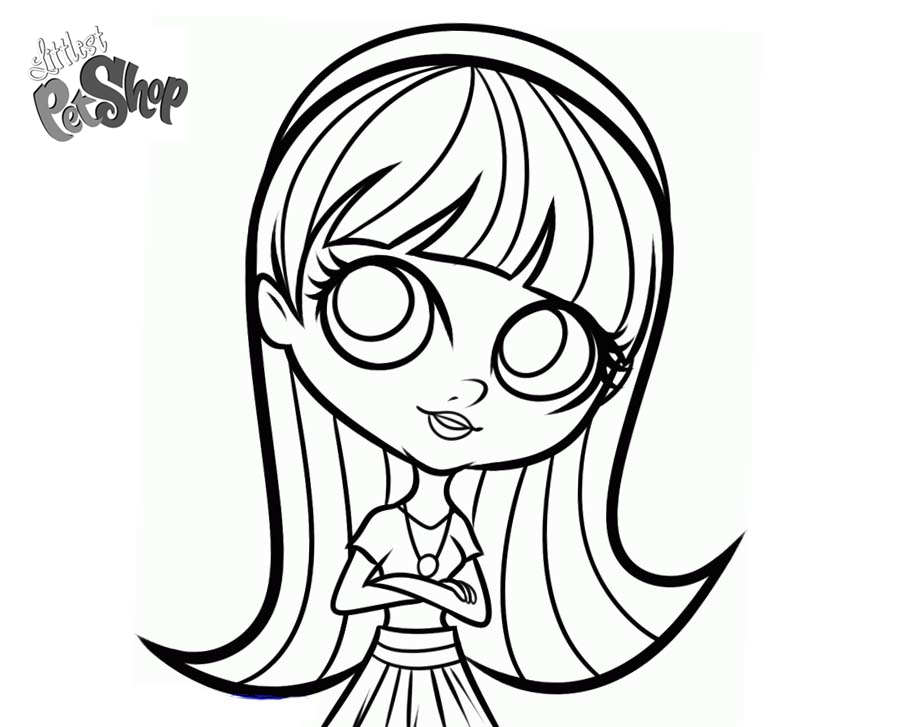 Blythe Baxter from Littlest Pet Shop Coloring Pages - Free Printable ...