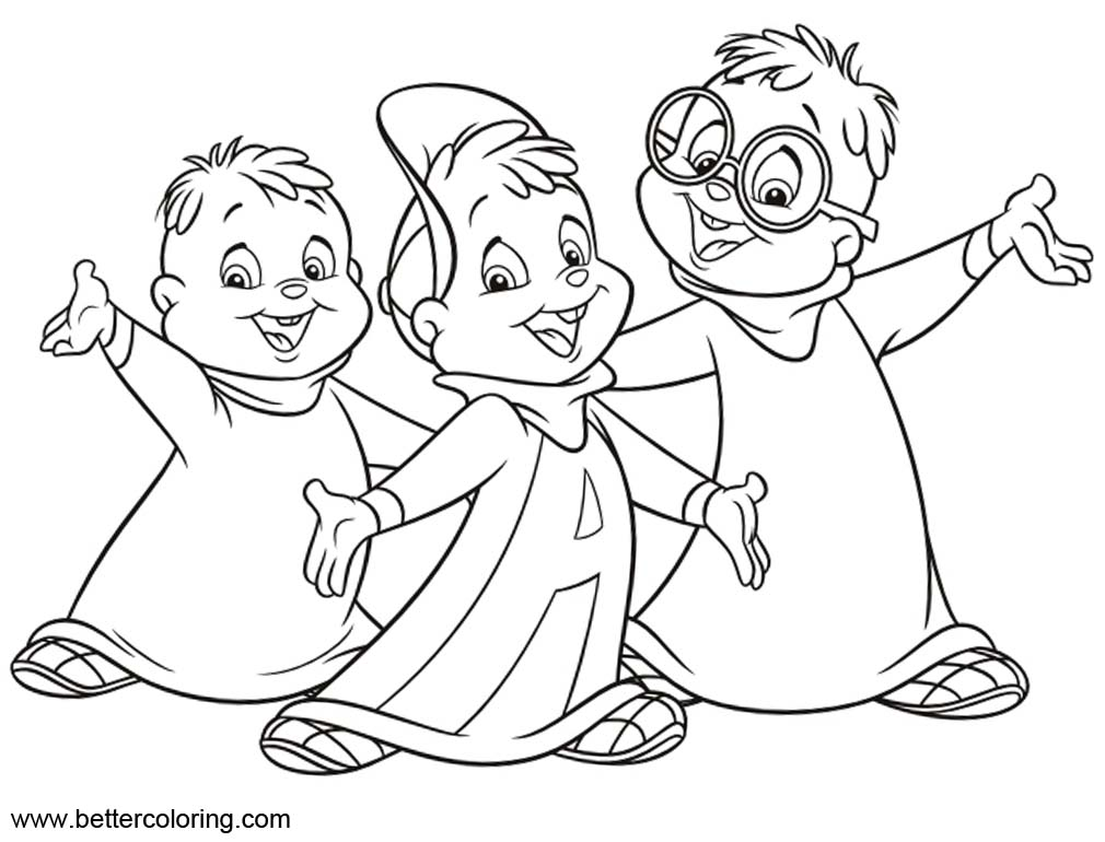 Boys from Alvin And The Chipmunks Coloring Pages - Free ...