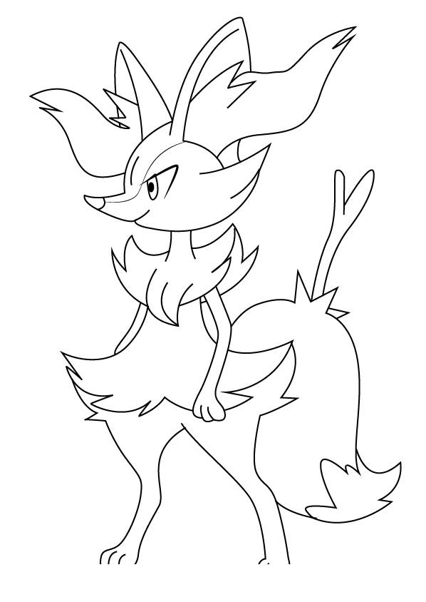 Free Braixen from Pokemon Coloring Pages printable