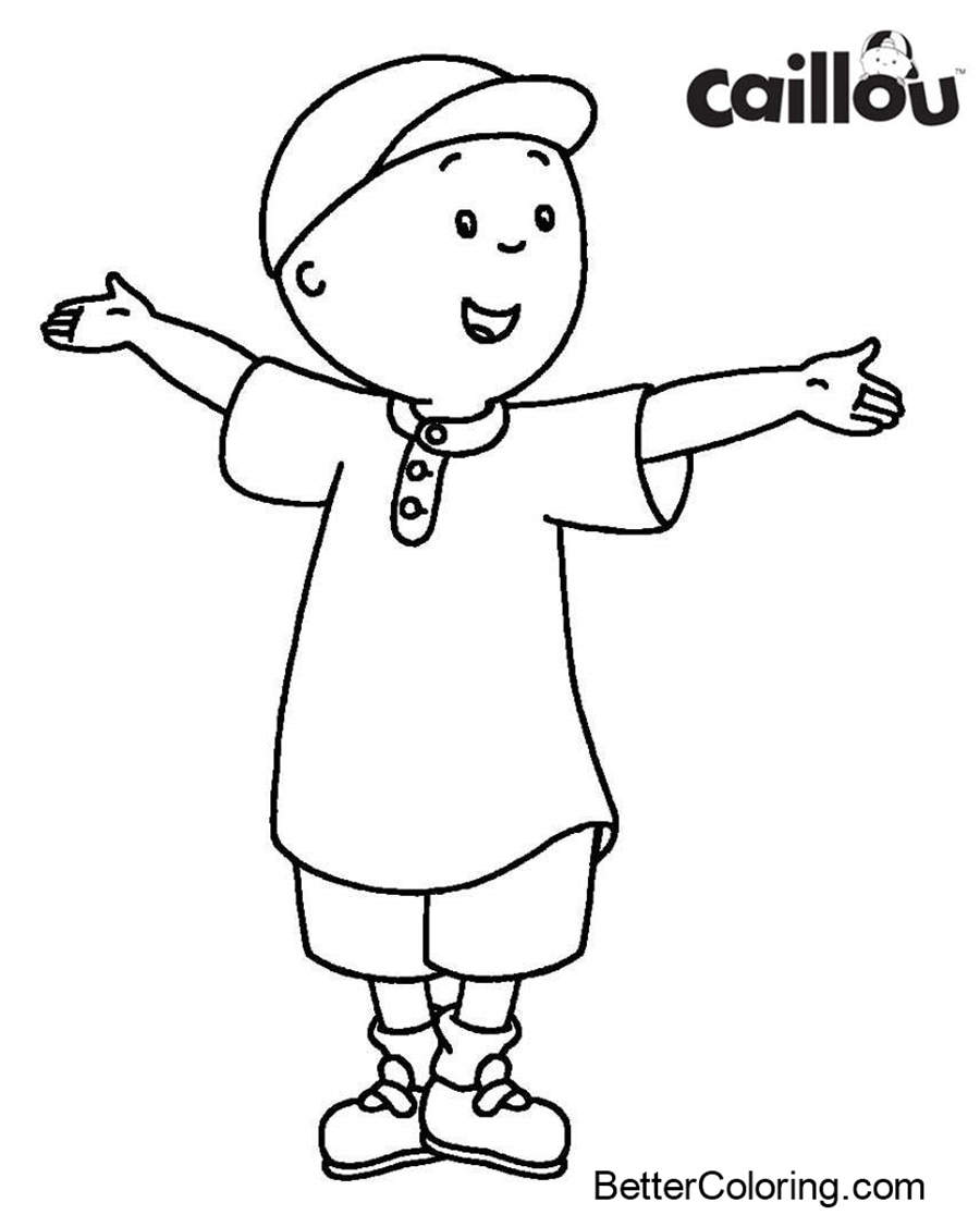 Free Caillou Coloring Page Easy for Kids printable