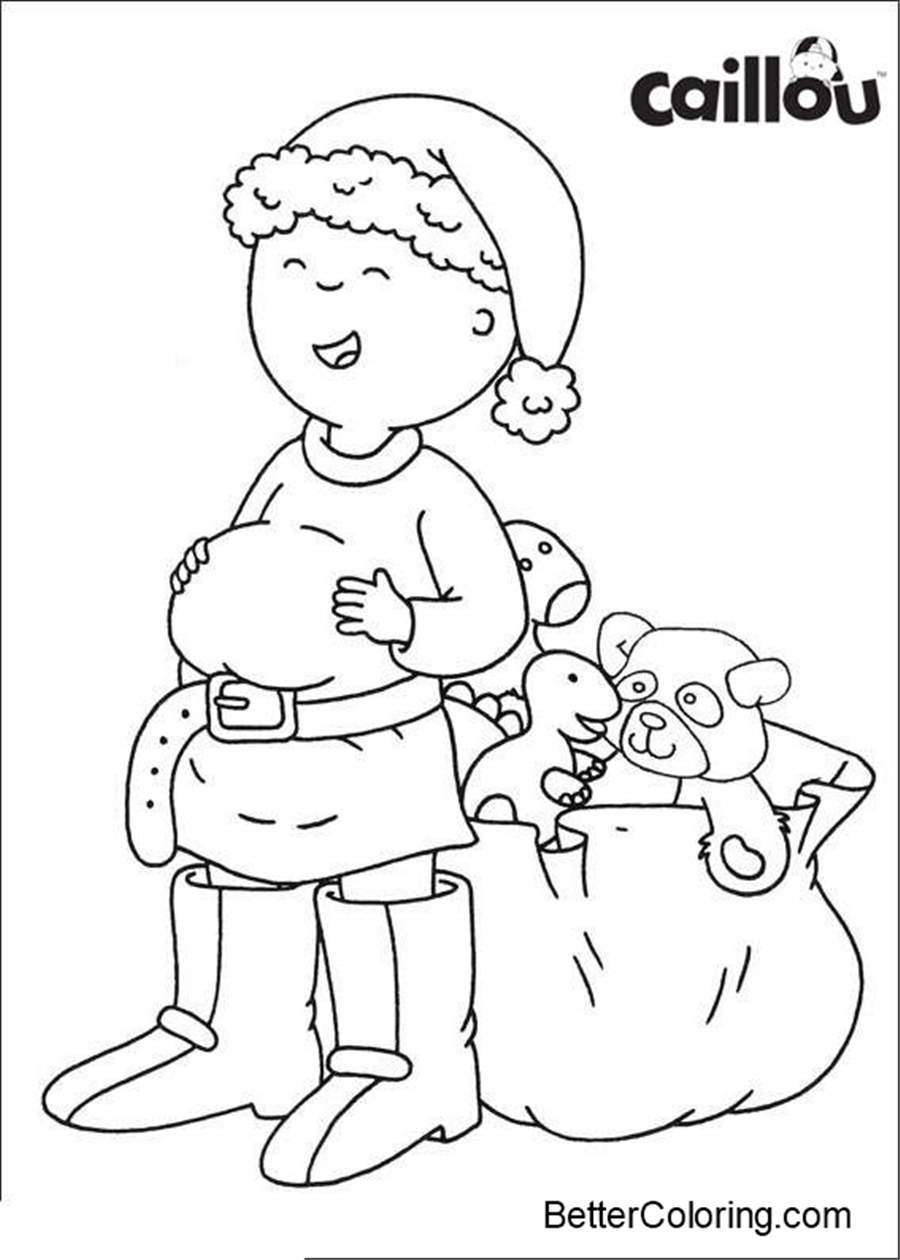 Free Caillou Coloring Pages Christmas printable