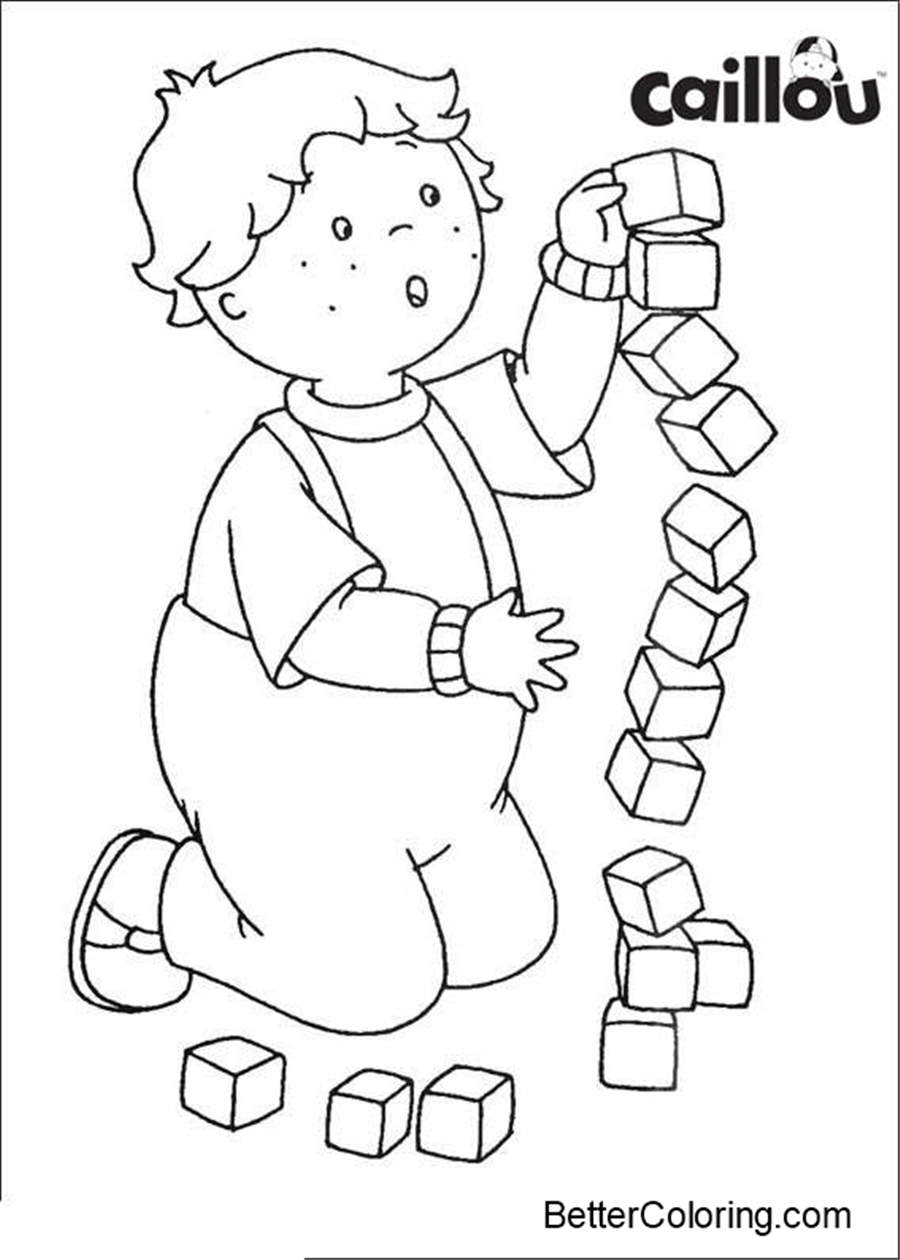 Caillou Coloring Pages Coloring Book - Free Printable Coloring Pages