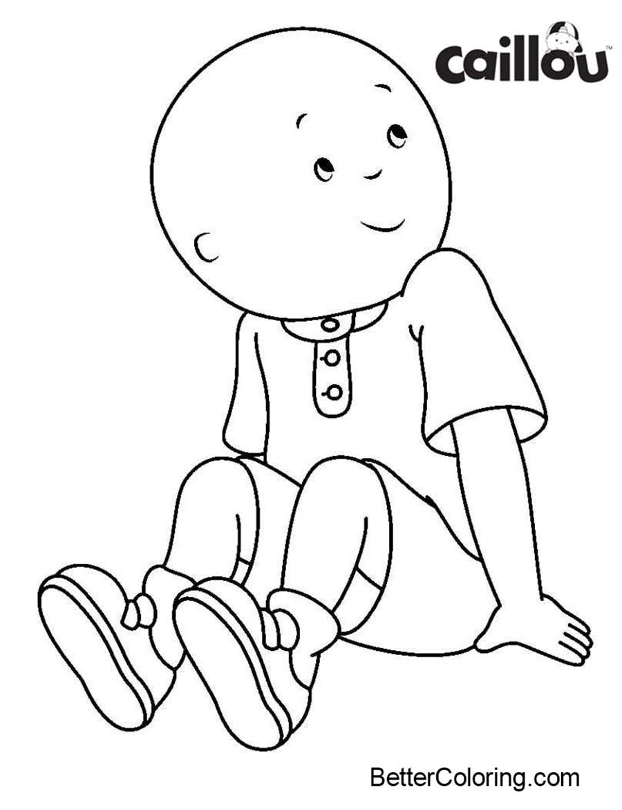 Free Caillou Coloring Pages No Hat printable