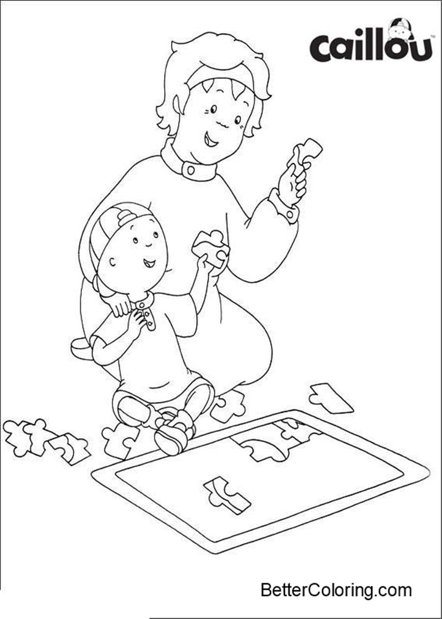 Caillou Coloring Pages Printable - Free Printable Coloring Pages
