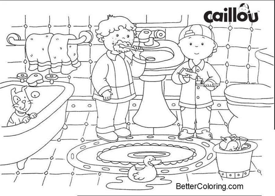 Free Caillou Coloring Pages printable