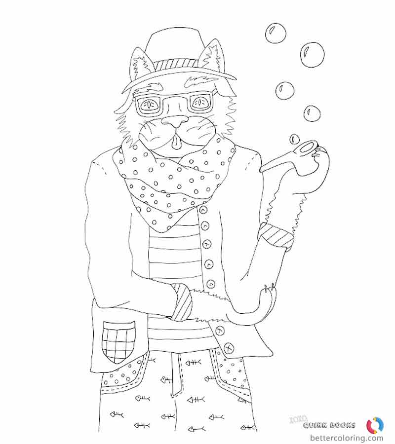 Cartoon Hipster Coloring Pages Animal Free Printable Coloring Pages