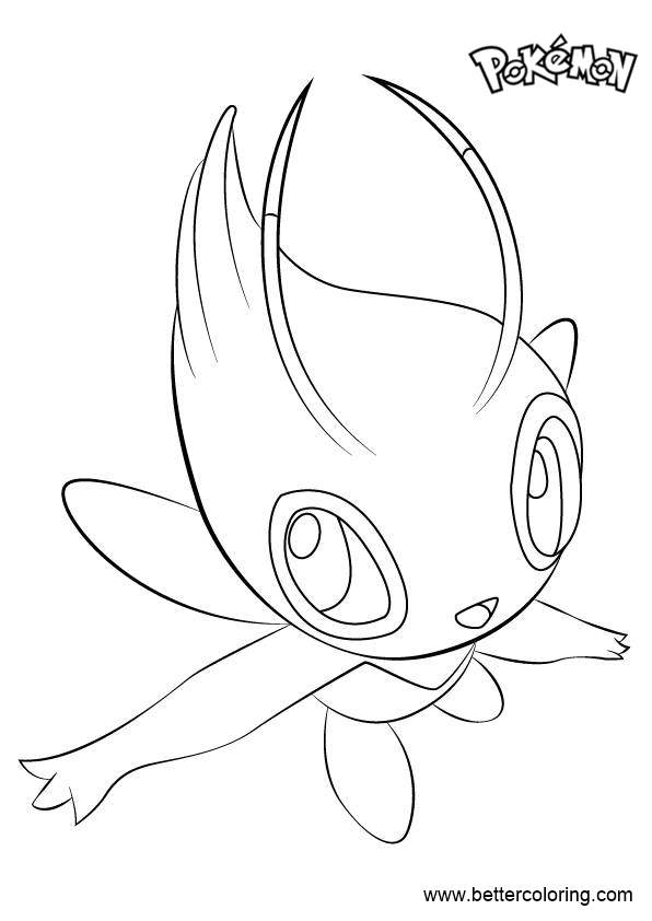 Free Celebi from Pokemon Coloring Pages printable