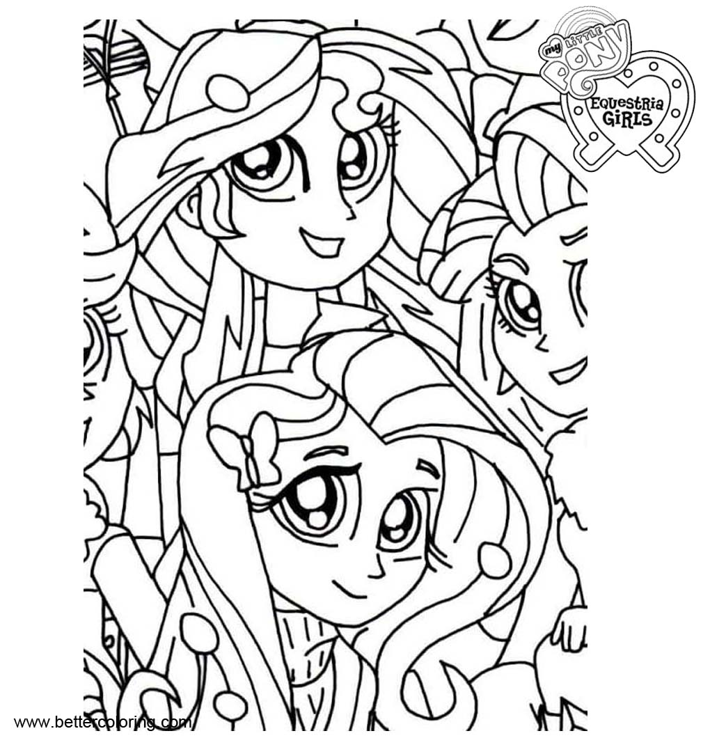 Characters From My Little Pony Equestria Girls Coloring Pages Free