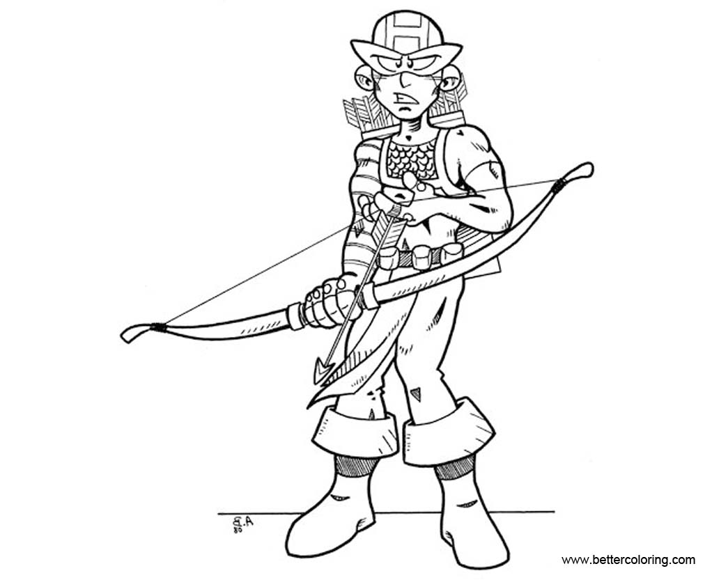 Hawkeye Coloring Pages To Print
