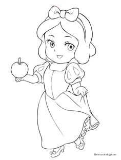 Chibi Disney Princesses Coloring Pages Baby Snow White Coloring ...