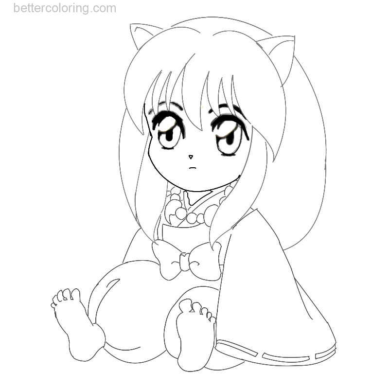 Free Chibi InuYasha Coloring Pages by Emovampireriska printable