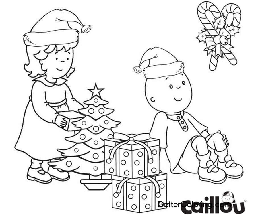 Caillou Christmas Coloring Pages. caillou coloring pages coloring ...