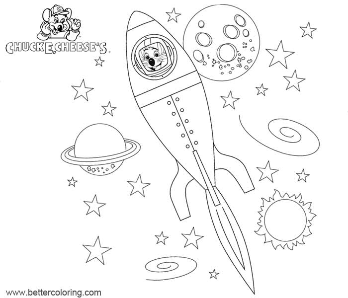 Free Chuck E Cheese Coloring Pages Rocket printable
