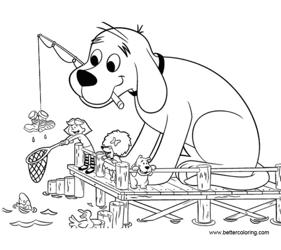 Free Clifford Coloring Pages Fishing printable