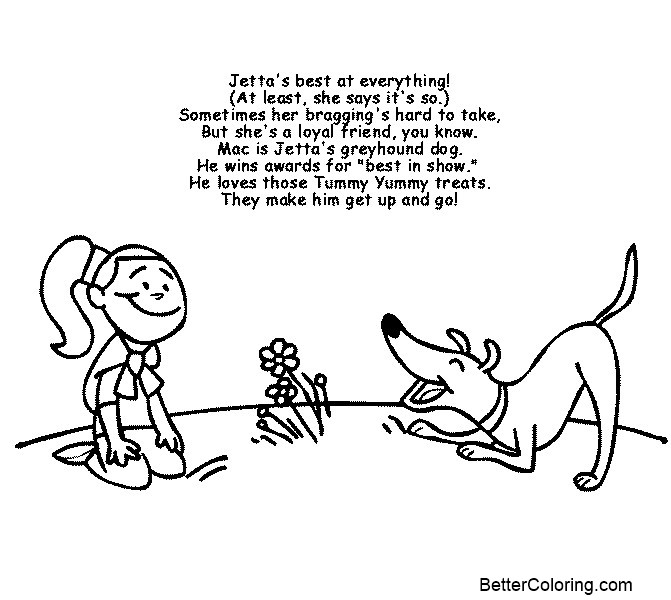 Clifford Coloring Pages Jetta and Mac - Free Printable Coloring Pages