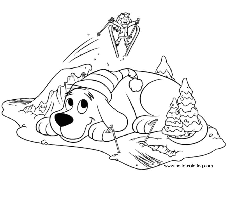 Free Clifford Coloring Pages Ski Poster printable