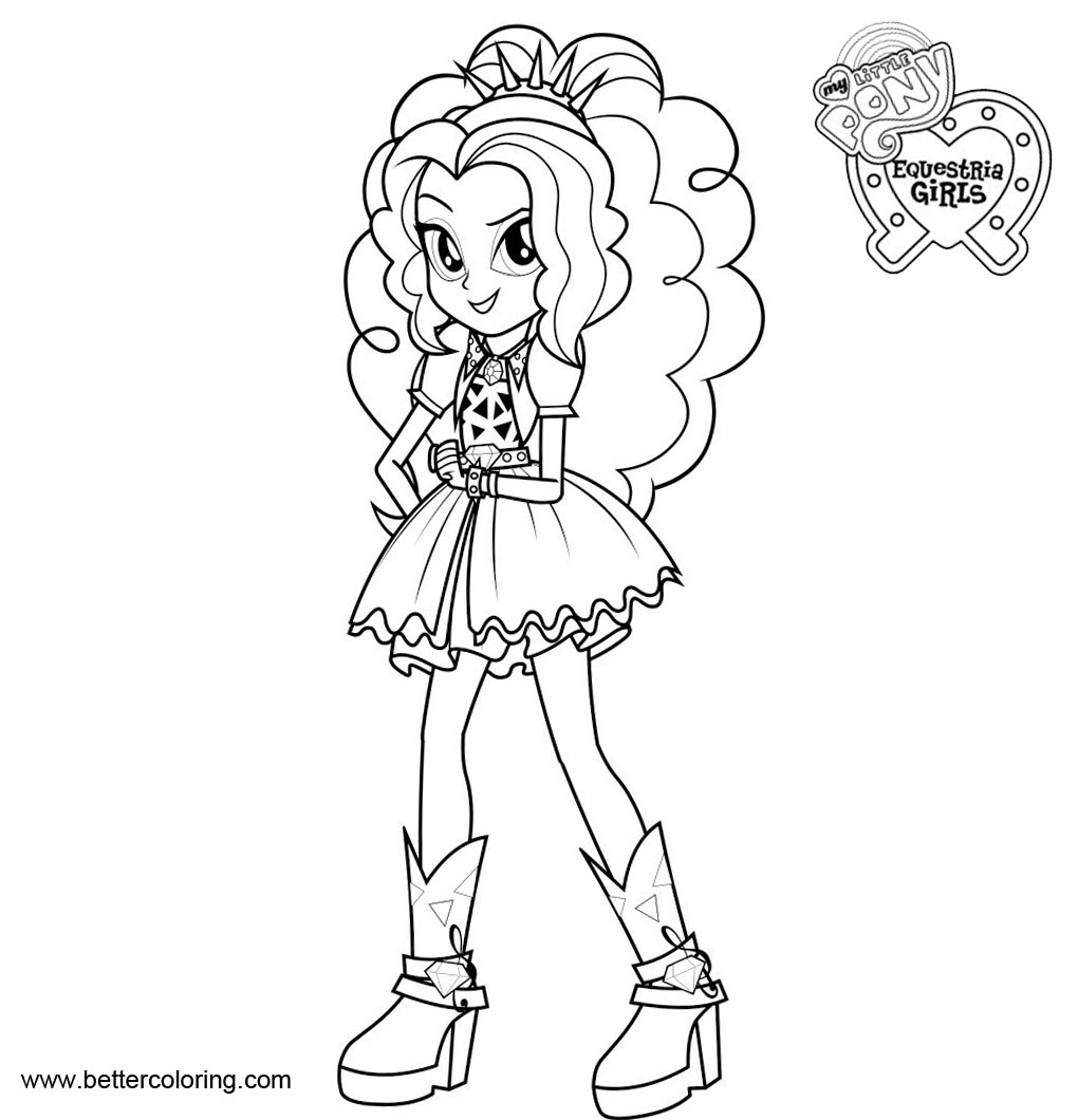 Coloring Pages Of My Little Pony Equestria Girls