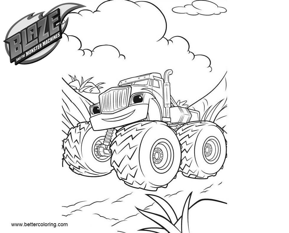 Free Crusher Blaze and the Monster Machines Coloring Pages printable