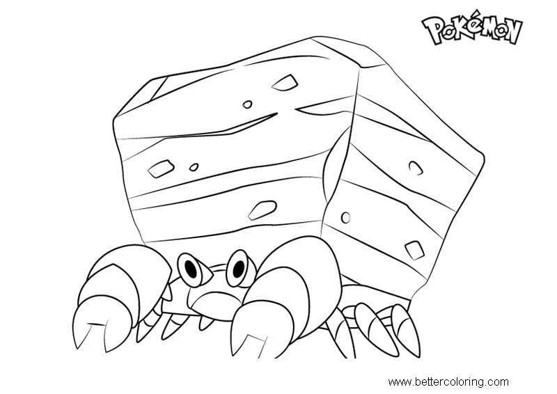 Free Crustle from Pokemon Coloring Pages printable
