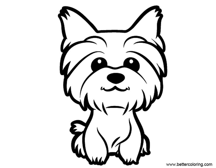 yourkie doags coloring pages | Cute Yorkie Coloring Pages - Free Printable Coloring Pages