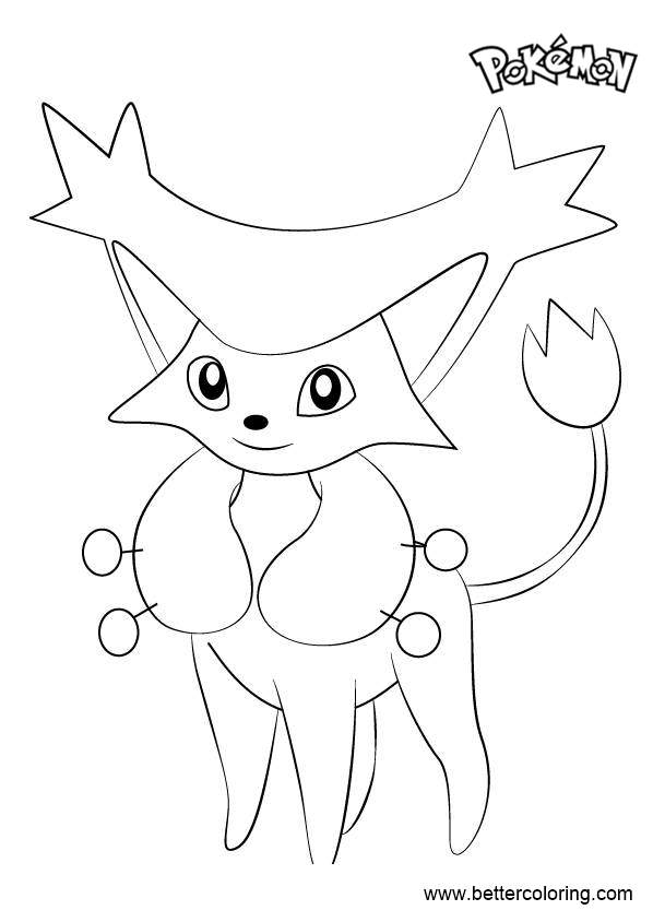 Free Delcatty from Pokemon Coloring Pages printable