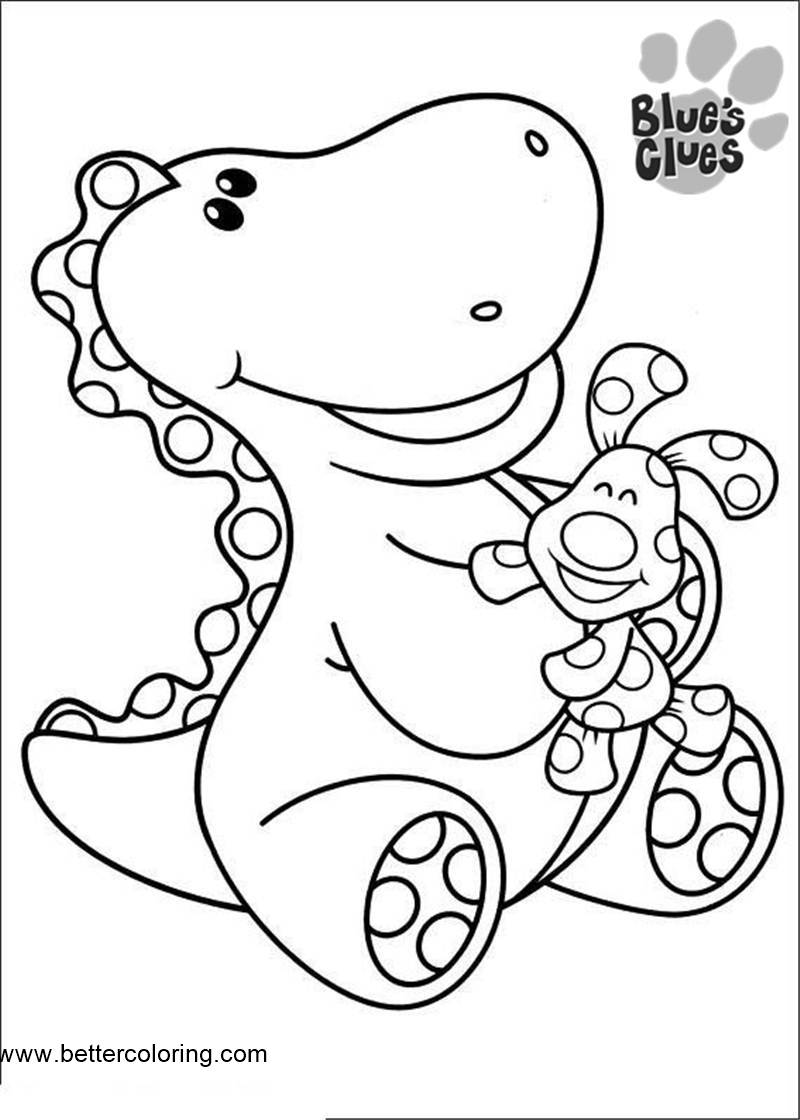 Free Dinosaur from Blue's Clues Coloring Pages printable