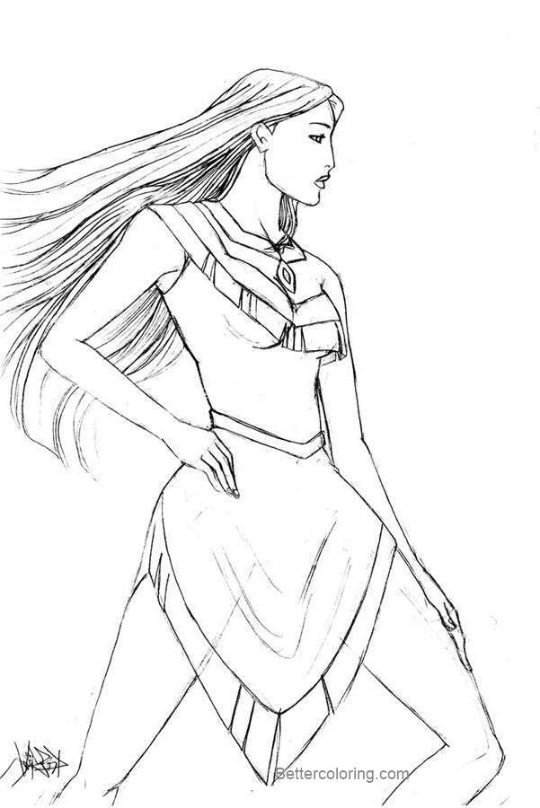 Free Disney Princess Pocahontas Coloring Pages by jianren printable