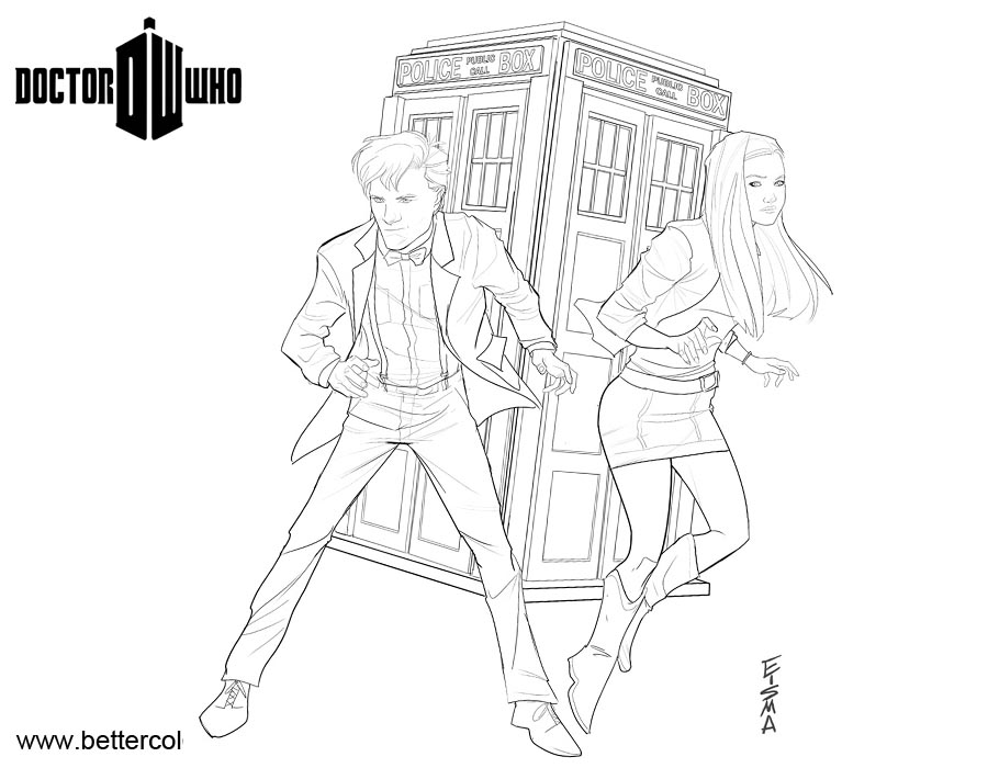 doctor who coloring pages for kids | Doctor Who Coloring Pages Amy Pond - Free Printable ...