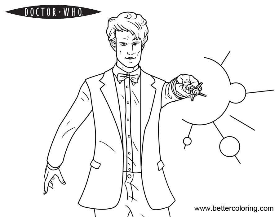 Free Doctor Who Coloring Pages Black and White printable