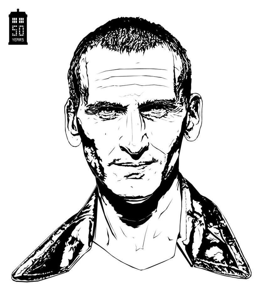 Free Doctor Who Coloring Pages Christopher Eccleston printable