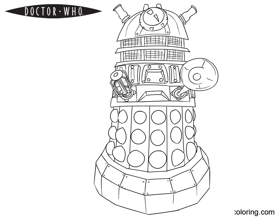 Free Doctor Who Coloring Pages Dalek printable