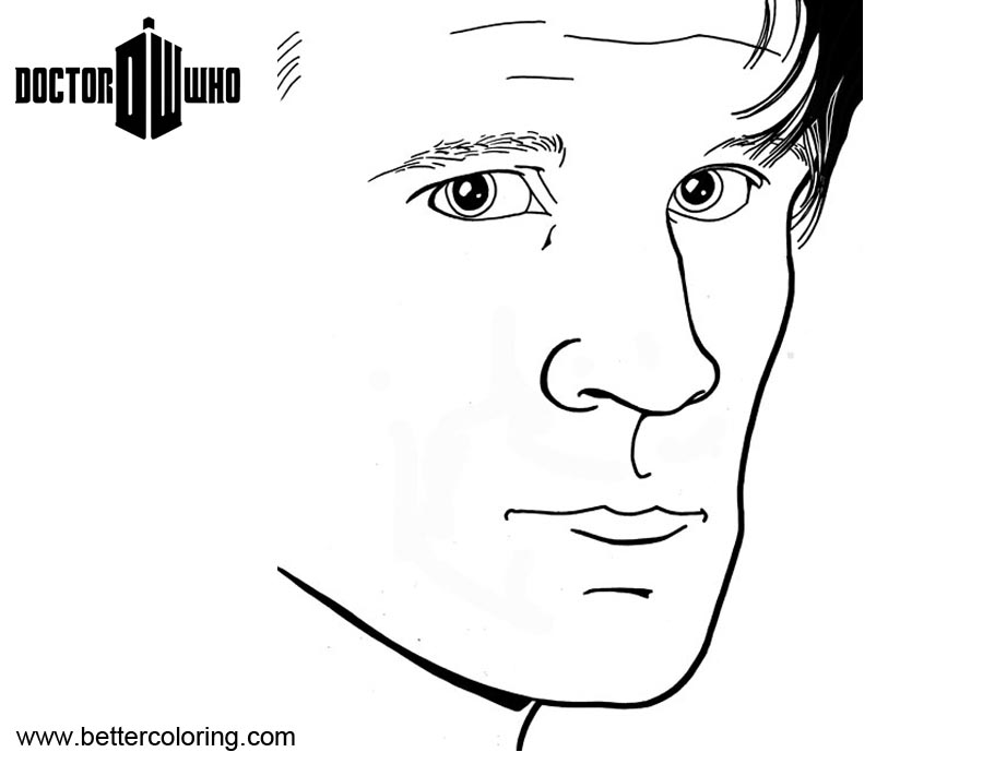 Free Doctor Who Coloring Pages Matt Smith printable