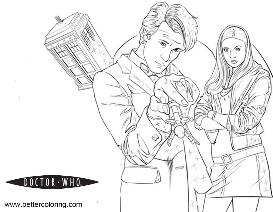 Free Doctor Who Coloring Pages Pencil Drawing printable