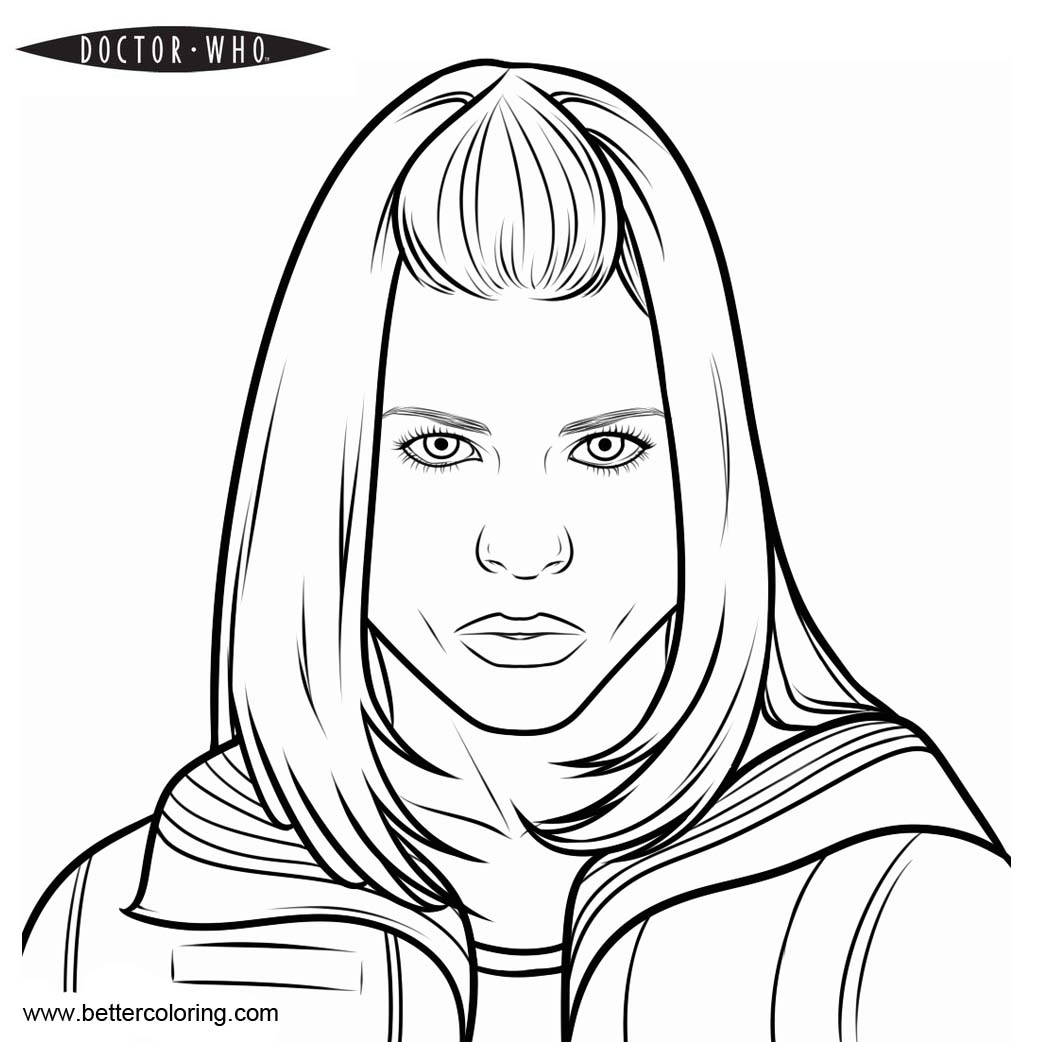 doctor who coloring pages for kids | Doctor Who Coloring Pages Rose - Free Printable Coloring Pages