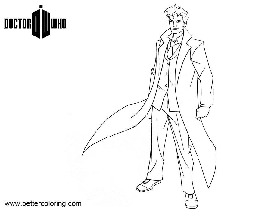 doctor who coloring pages for kids | Doctor Who Matt Smith Coloring Pages - Free Printable ...