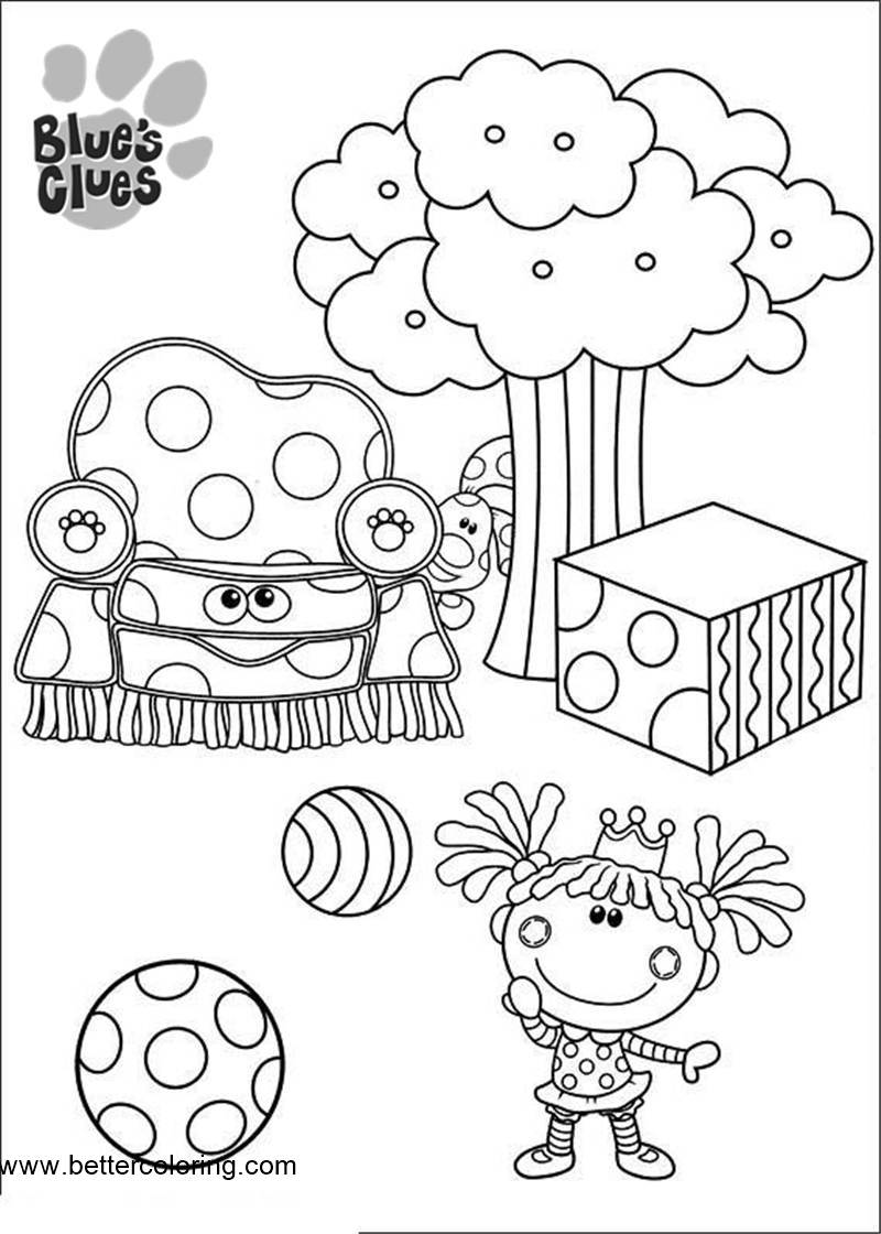 Free Doll from Blue's Clues Coloring Pages printable